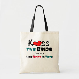 Kiss the Bride Tote Bags