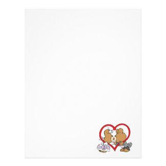 kiss the bride groom teddy bears letterhead design