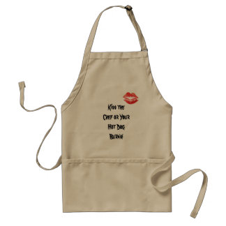 Kiss the Chef or Your Hot Dog Burns! Standard Apron
