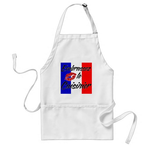 Kiss The Cook (French) Aprons