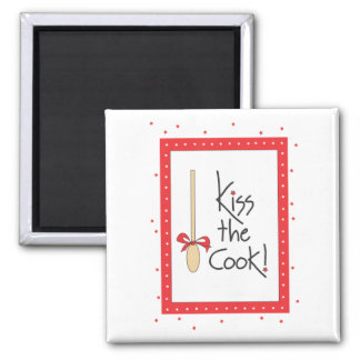 Kiss the Cook! kitchen magnet