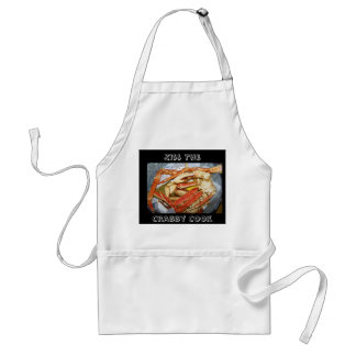 Kiss The Crabby Cook Crab Legs Smock Apron