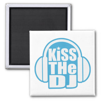 Kiss the DJ Square Magnet