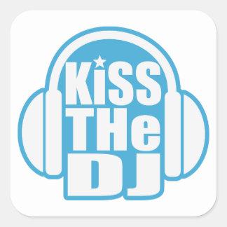 Kiss the DJ Square Sticker