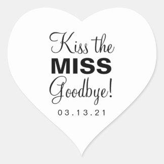 Kiss the Miss Heart Sticker