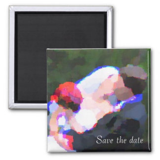 Kiss WaterColor, Save the date Magnet
