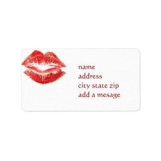 KISSABLE ADDRESS LABEL