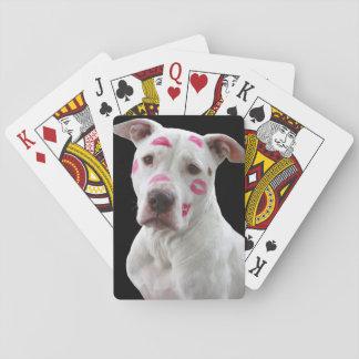 Kissable Pitbull Playing Cards
