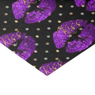 Kissable Purple Glitter Lips Tissue Paper