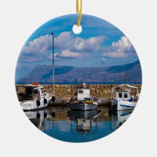 Kissamos Old Port Ceramic Ornament