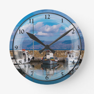 Kissamos Old Port Round Clock