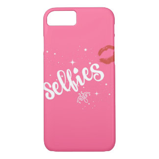 Kissed pink selfie case