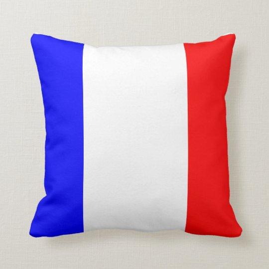Kissen mit französischer Flagge Throw Pillow