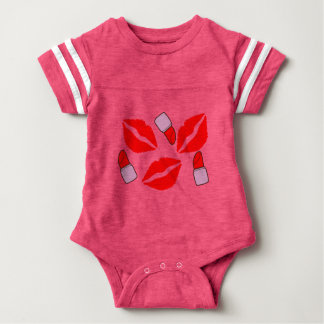 kisses and lipsticks baby bodysuit