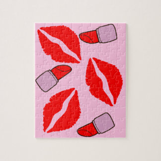 kisses and lipsticks jigsaw puzzle