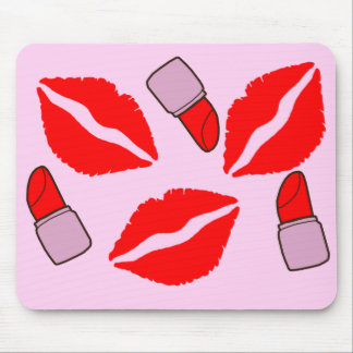 kisses and lipsticks mouse pad