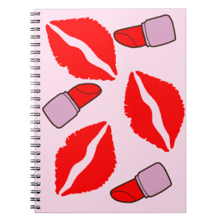 kisses and lipsticks notebooks