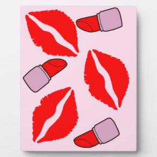 kisses and lipsticks plaque