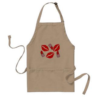 kisses and lipsticks standard apron