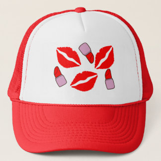 kisses and lipsticks trucker hat
