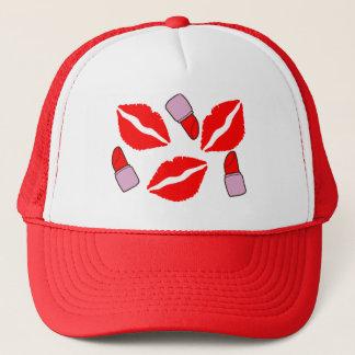 kisses and lipsticks trucker hat