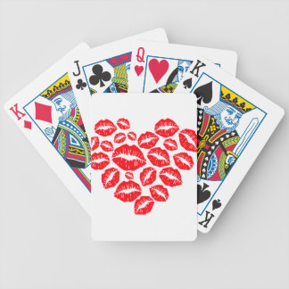 kisses and love heart poker deck