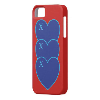 Kisses and love hearts iphone case