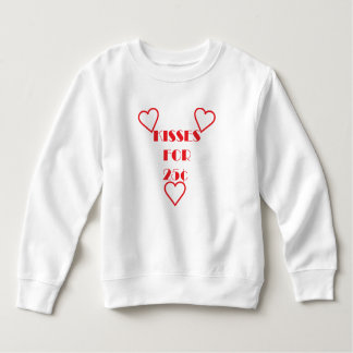 Kisses for 25 cents - Toddler Fleece Sweatshirt Sweatshirt