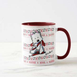 Kisses & Hugs Westie Dog Mug