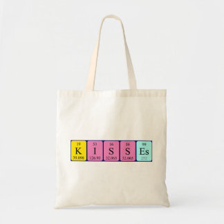 Kisses periodic table name tote bag