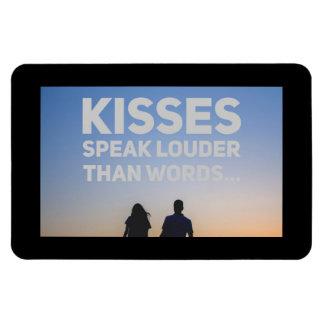 Kisses Speak Louder Than Words (Magnet) Magnet