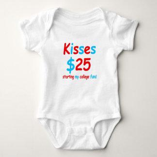 kisses  starting my college fund baby bodysuit