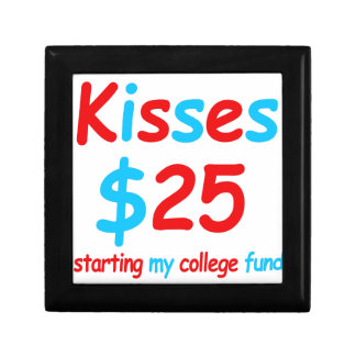 kisses  starting my college fund gift box