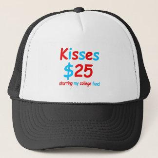 kisses  starting my college fund trucker hat