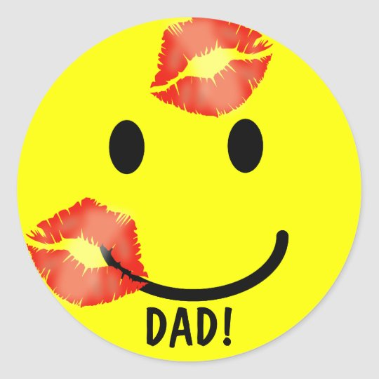 'KISSEY' DAD FATHER'S DAY SMILEY FACE STICKERS