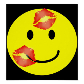 'KISSEY' SMILEY FACE PRINT