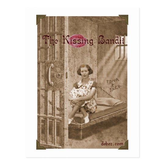 Kissing Bandit Postcard