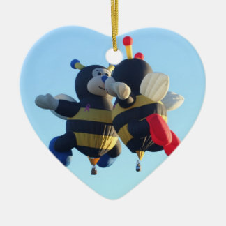 Kissing Bees Heart Ornament