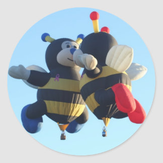 Kissing Bees Hot Air Balloon Sticker