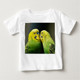 Kissing Budgie Parrot Bird Baby T-Shirt