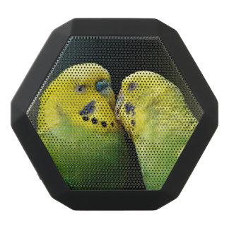 Kissing Budgie Parrot Bird Black Bluetooth Speaker