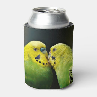 Kissing Budgie Parrot Bird Can Cooler