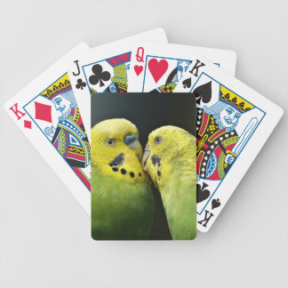 Kissing Budgie Parrot Bird Poker Deck