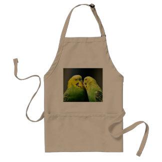 Kissing Budgie Parrot Bird Standard Apron