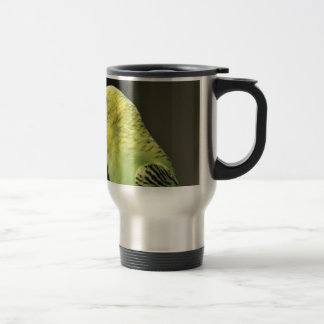 Kissing Budgie Parrot Bird Travel Mug
