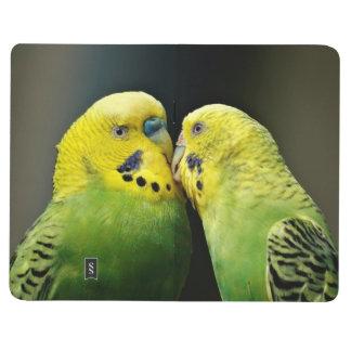 Kissing Budgie Parrot Journal