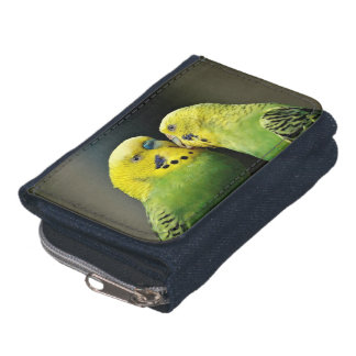 Kissing Budgie Wallets