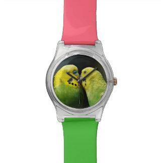Kissing Budgie Wristwatch
