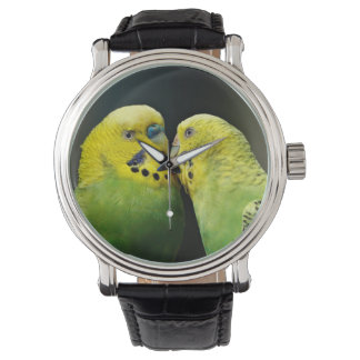 Kissing Budgie Wristwatches