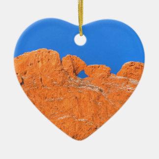 Kissing Camels with Blue Sky Ceramic Ornament
